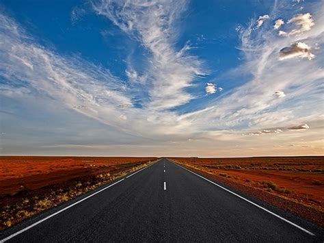 Road Blue Sky And White Clouds Desktop Backgrounds Free